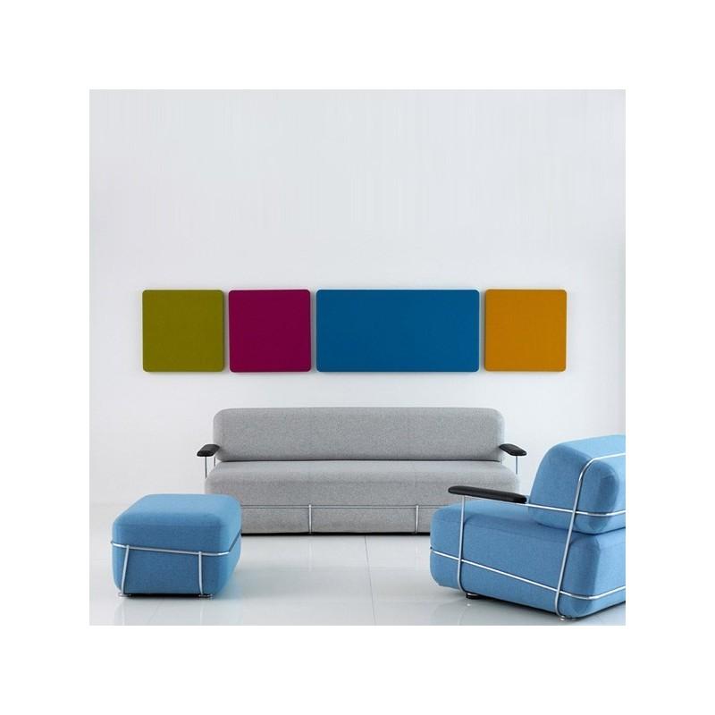 Global panneau acoustique mural carr 600x1200mm tecnise for Panneau acoustique mural decoratif