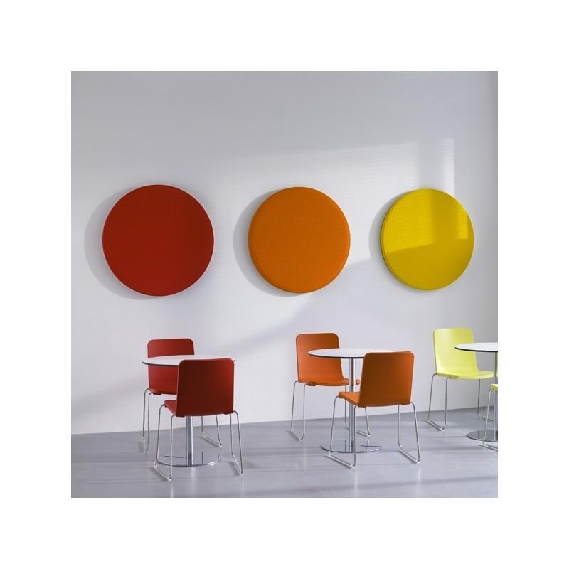 global panneau acoustique mural rond 700 mm tecnise. Black Bedroom Furniture Sets. Home Design Ideas